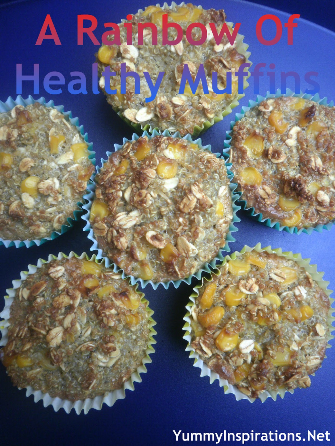A Rainbow of Healthy Muffins
