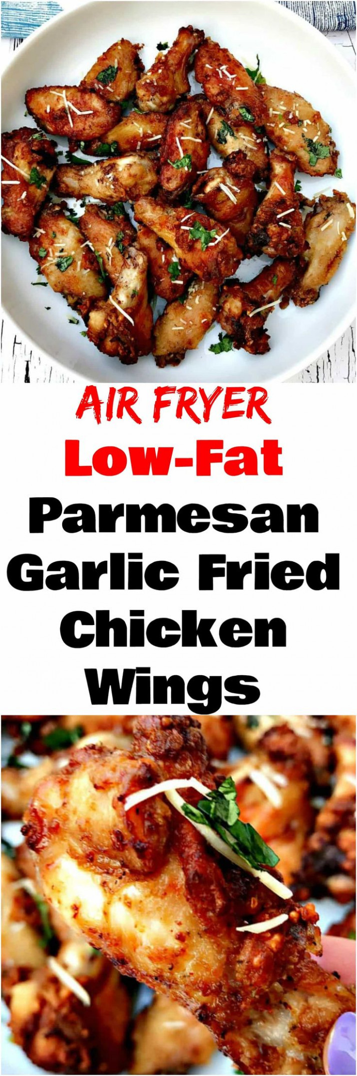 Air Fryer Garlic Parmesan Breaded Fried Chicken Wings ...
