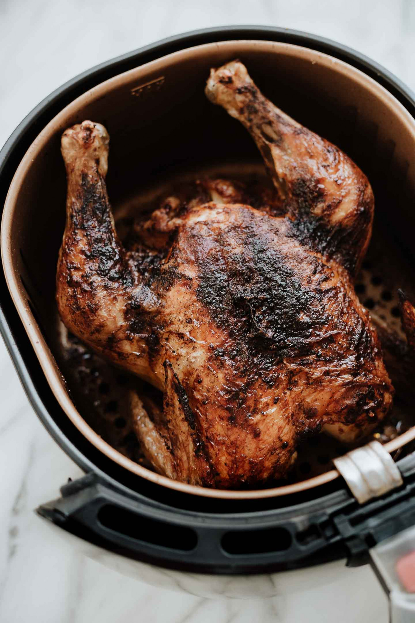 Air Fryer Whole Roasted Chicken | Amy in the Kitchen