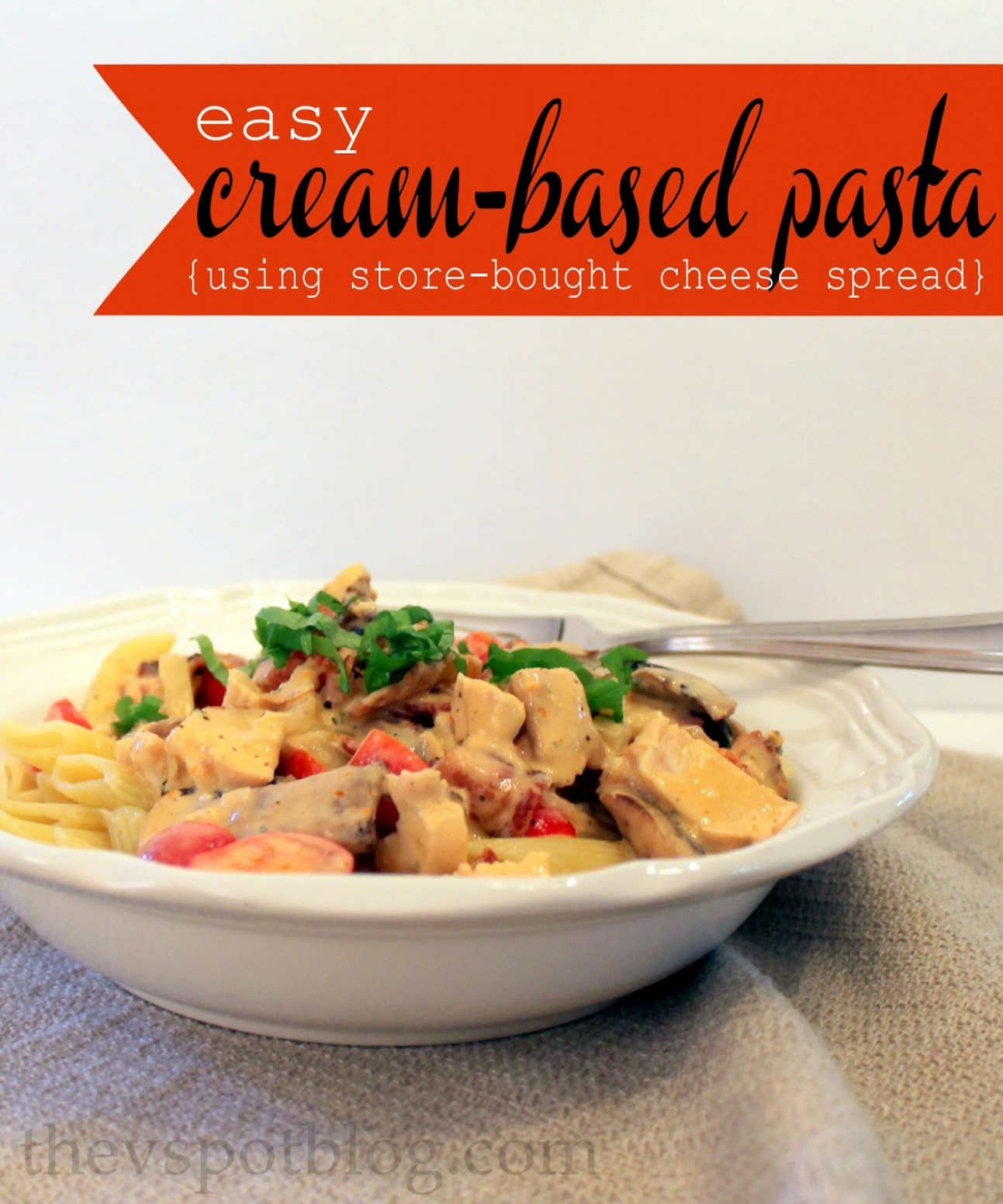 An easy recipe for cream based pasta sauce (using store ...