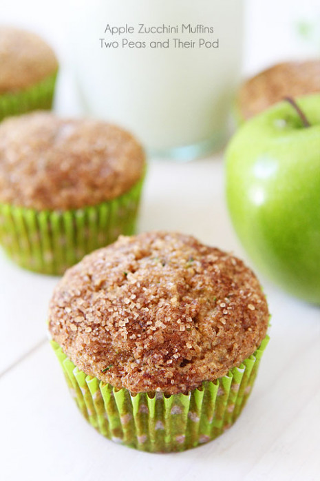 Apple Zucchini Muffins Recipe | Two Peas & Their Pod