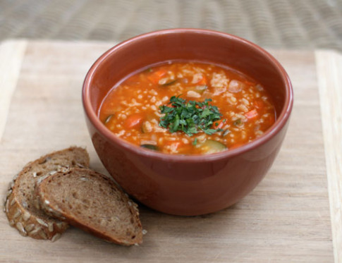 Arborio Rice and White Bean Vegetable Soup - Dirty Gourmet