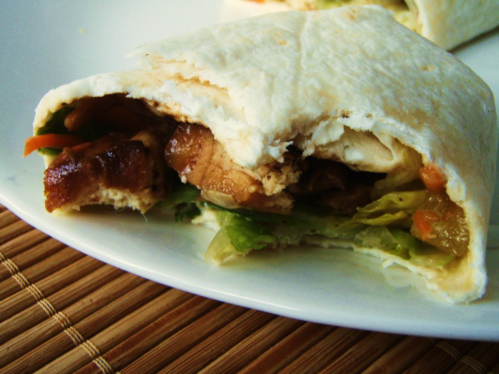 asian chicken salad wraps - 30