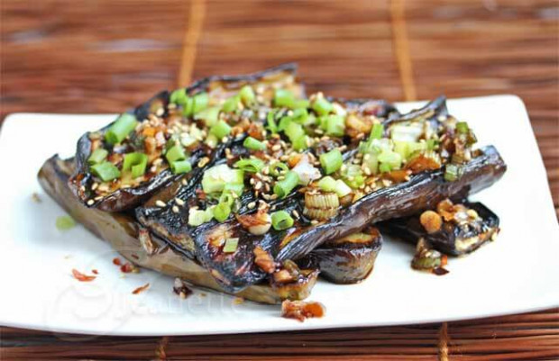 Asian Grilled Eggplant with Soy Sesame Sauce Recipe ...