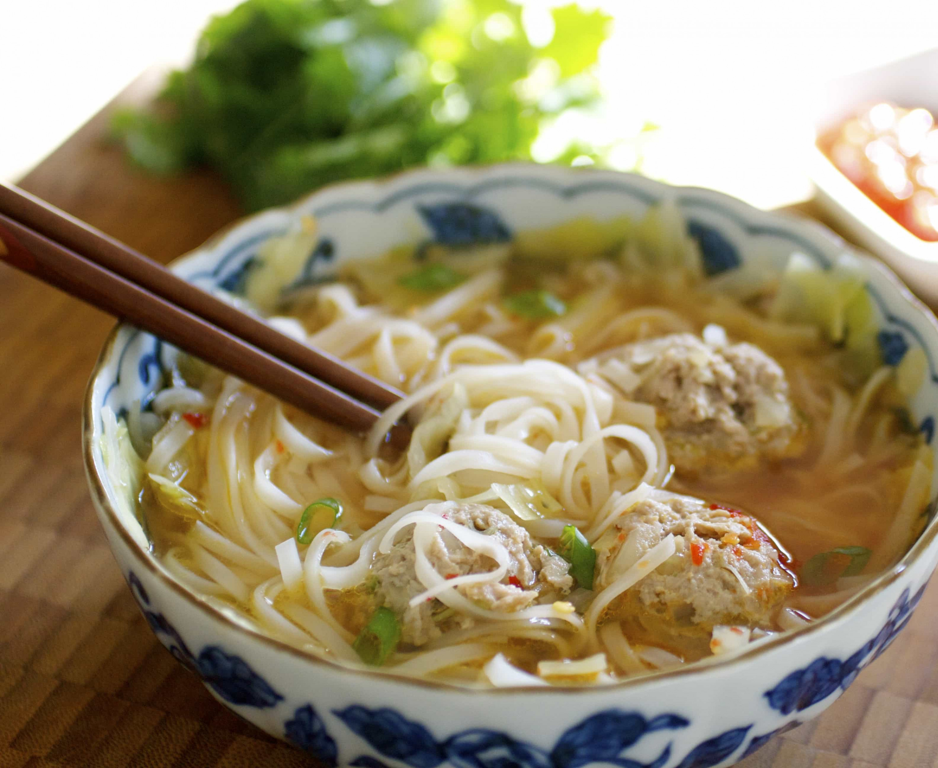 Asian Meatball Noodle Soup   Tasty Ever After   Quick and ...