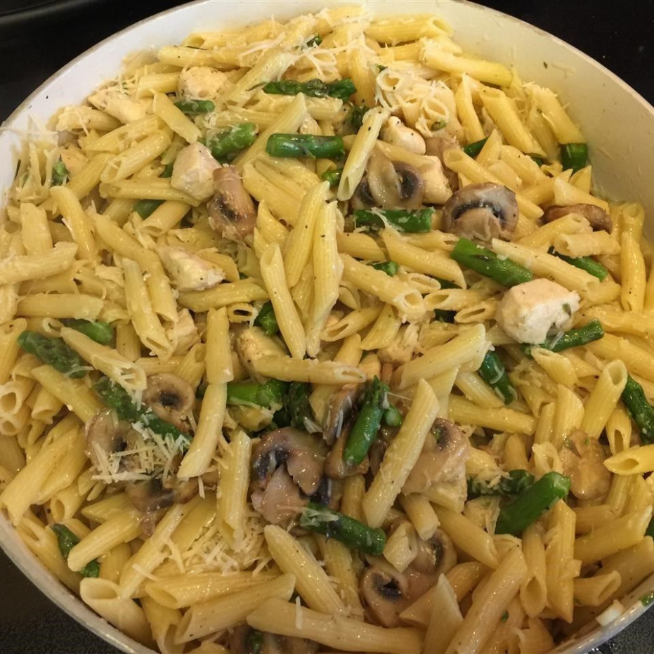 Asparagus chicken pasta recipe - All recipes UK