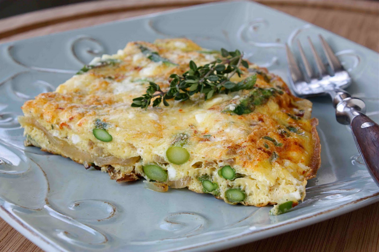 Asparagus Frittata Recipe with Smoked Paprika, Thyme ...