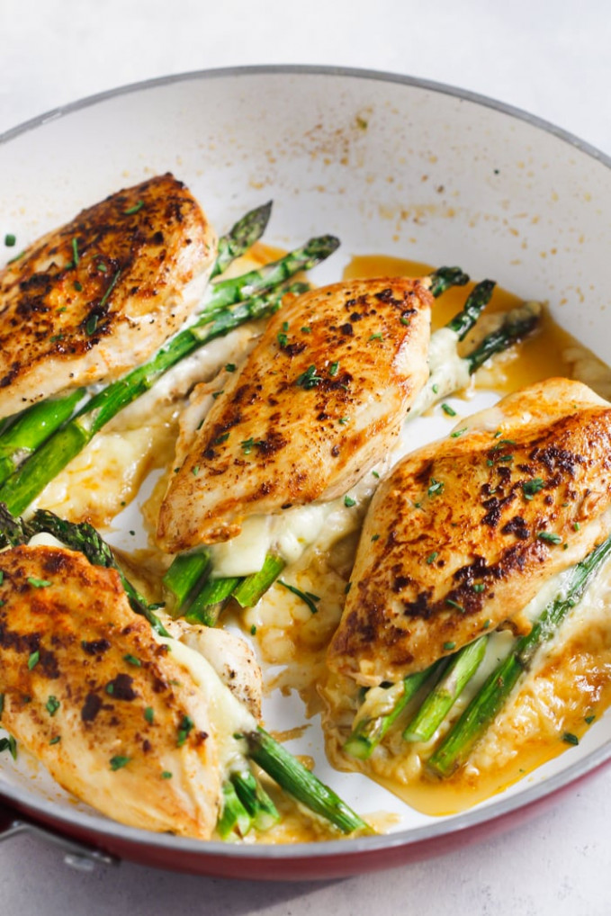 Asparagus Stuffed Chicken Breast (Delicious One-Pan Dinner)