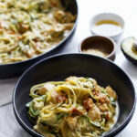 Avocado Alfredo Zoodles With Chicken + Sun Dried Tomatoes …
