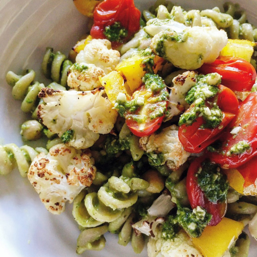 Avocado pesto and roasted vegetable pasta – Healthy eating ...