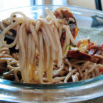 Bacon And Tomato Pasta With Smoked Chicken Sausage | Dixie …