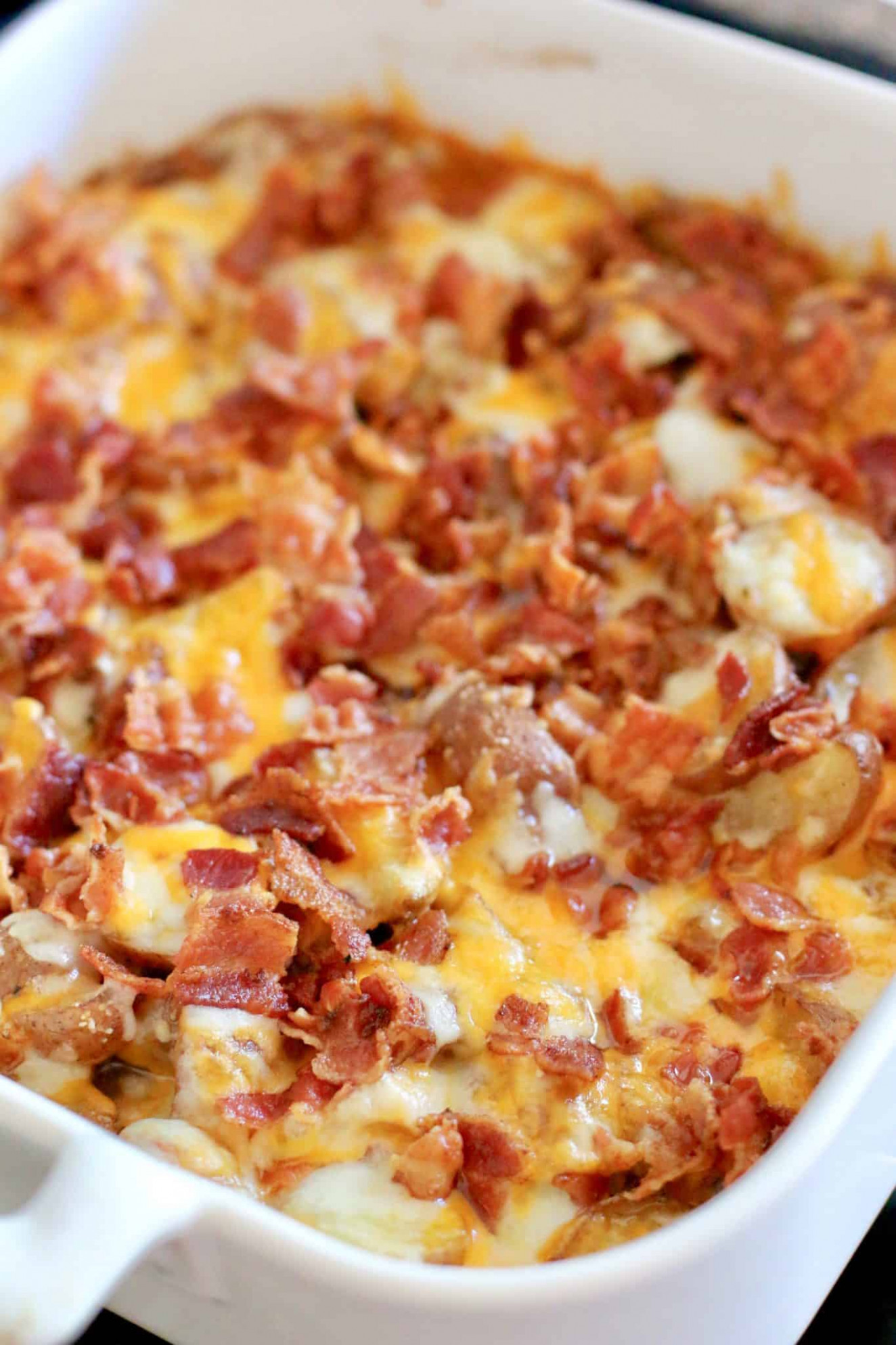 Bacon Cheddar Potatoes | The Country Cook | side dishes