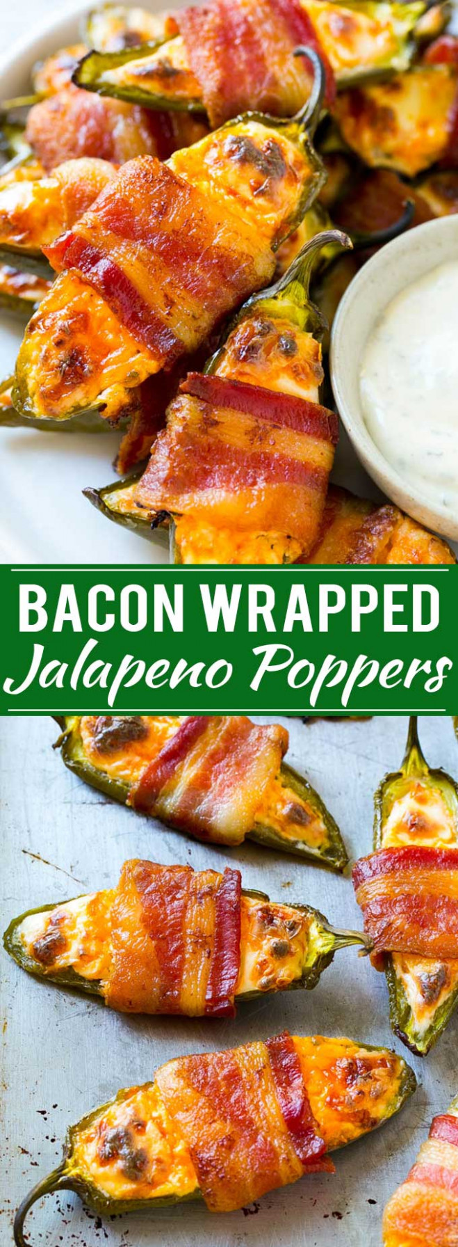 Bacon Wrapped Jalapeno Poppers - Dinner at the Zoo