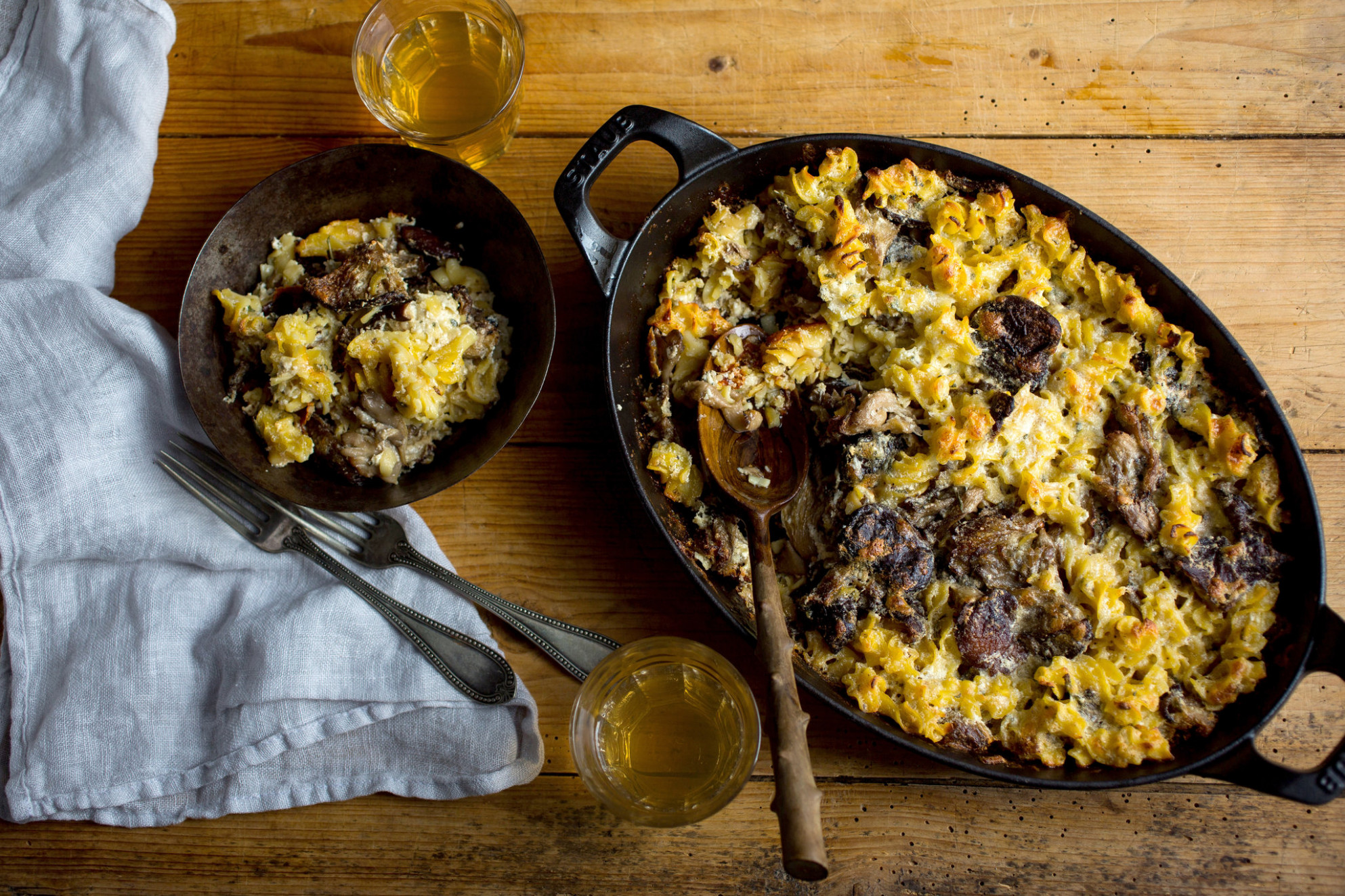 Baked Cheesy Pasta Casserole With Wild Mushrooms Recipe …