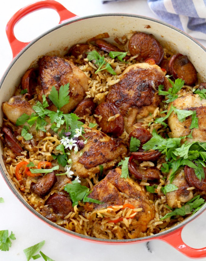 Baked Chicken and Brown Rice Recipe • CiaoFlorentina