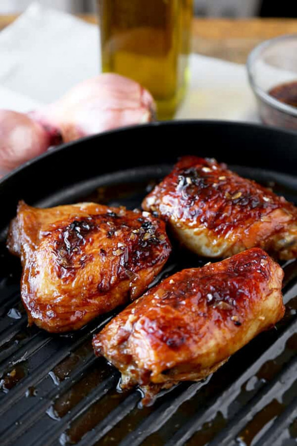 Baked Chicken Thighs with Soy Marinade - Pickled Plum Food ...