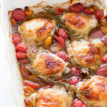 Baked Chicken with Cherry Tomatoes and Garlic Recipe ...