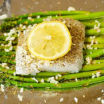Baked Cod And Asparagus With Garlic Lemon Caper Sauce …