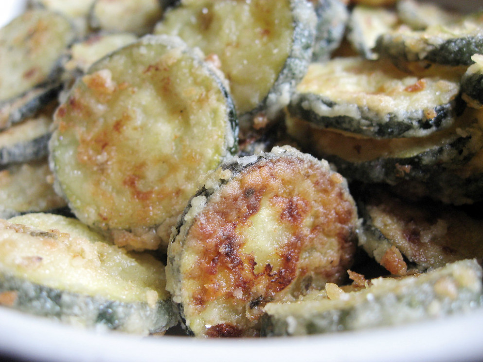 Baked Eggless Zucchini Chips