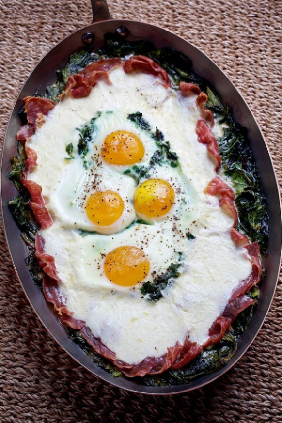 Baked eggs for dinner: Uova al Forno recipe | Cakes ...