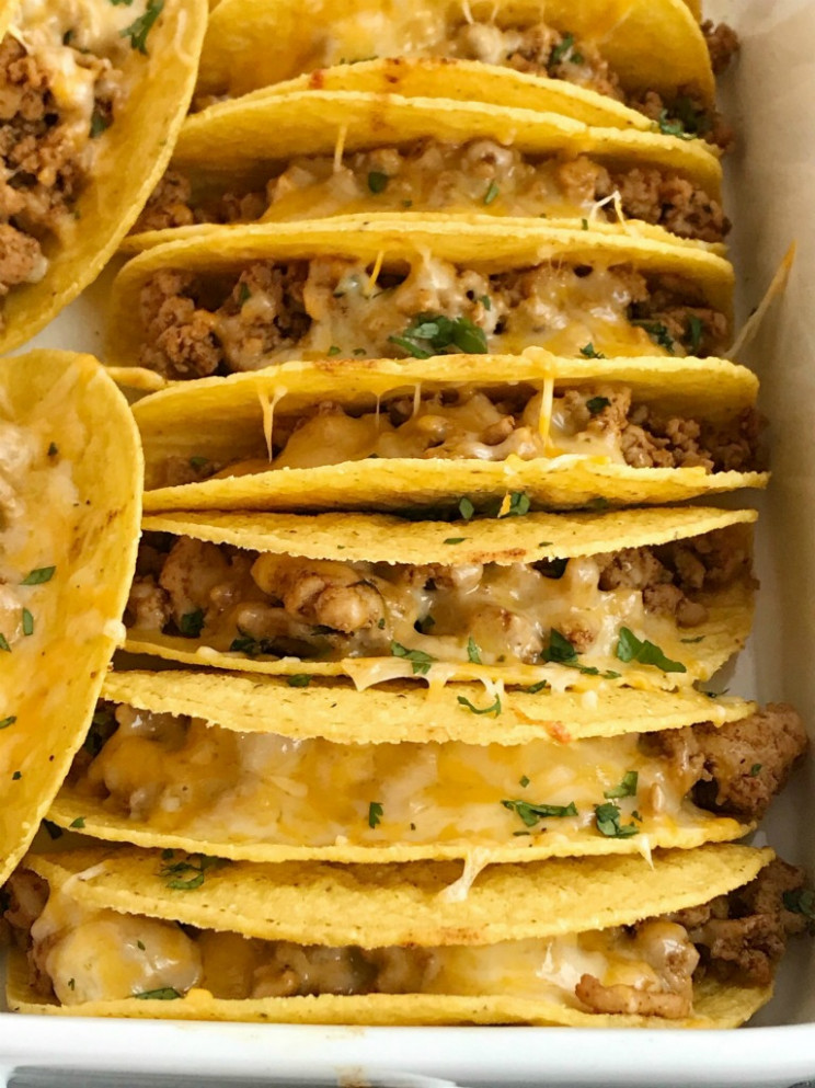 Baked Ground Chicken Tacos - Together as Family