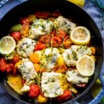 Baked Haddock with tomato and fennel