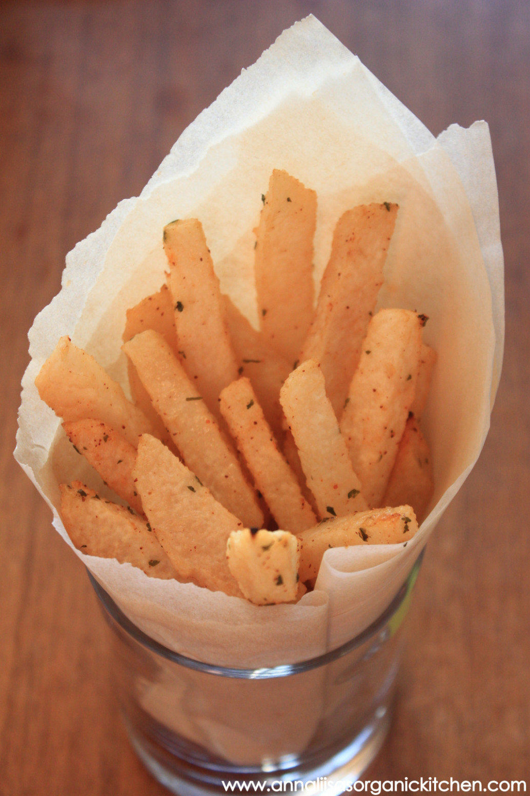 Baked Lime, Cilantro and Chili Infused Jicama Fries ...