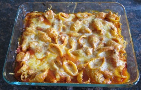 Baked Pasta Shells Casserole Recipe With Ground Meat And ...