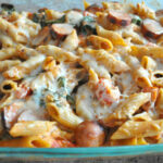Baked Penne With Chicken Sausage, Spinach, Tomatoes And …