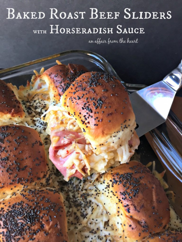 Baked Roast Beef Sliders with Horseradish Sauce | An ...