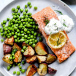 Baked Salmon with Creme Fraiche | foodiecrush .com