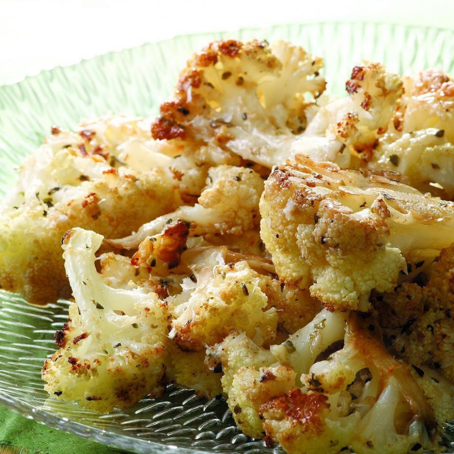 Balsamic & Parmesan Roasted Cauliflower Recipe - EatingWell