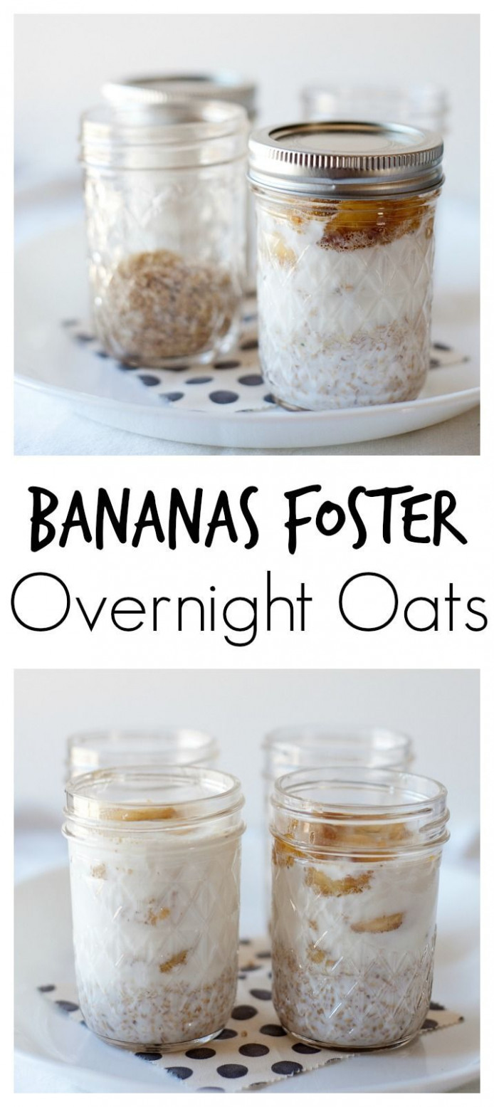 Bananas Foster Overnight Oats | Recipe | Banana foster ...