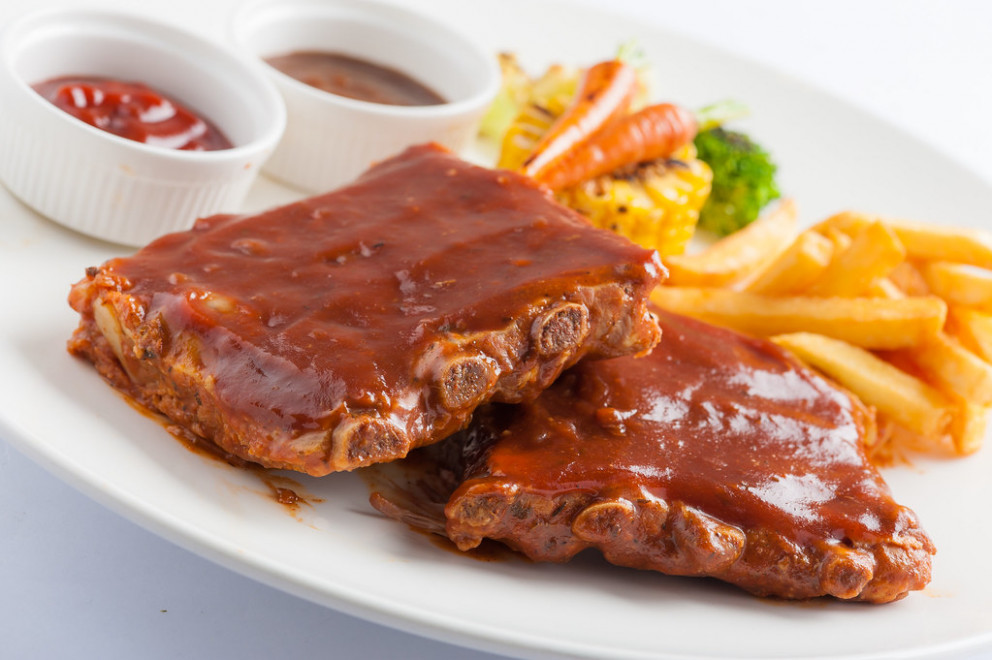 Barbecue ribs steak