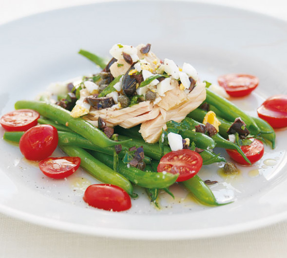 Bean and Tuna Salad with Egg and Olive Dressing - Annabel ...
