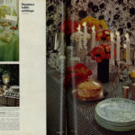 Beautiful 1967 Summer Table Settings For Parties (2 Page Layout)