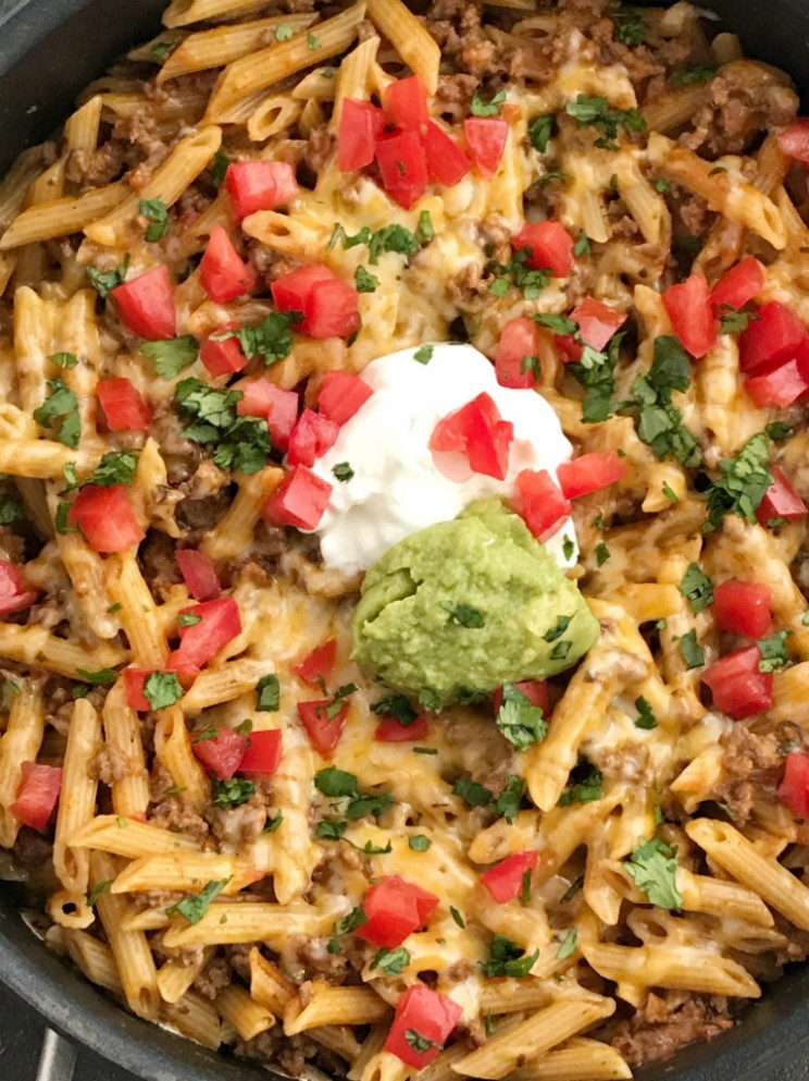 Beef Taco Pasta Skillet - Together as Family