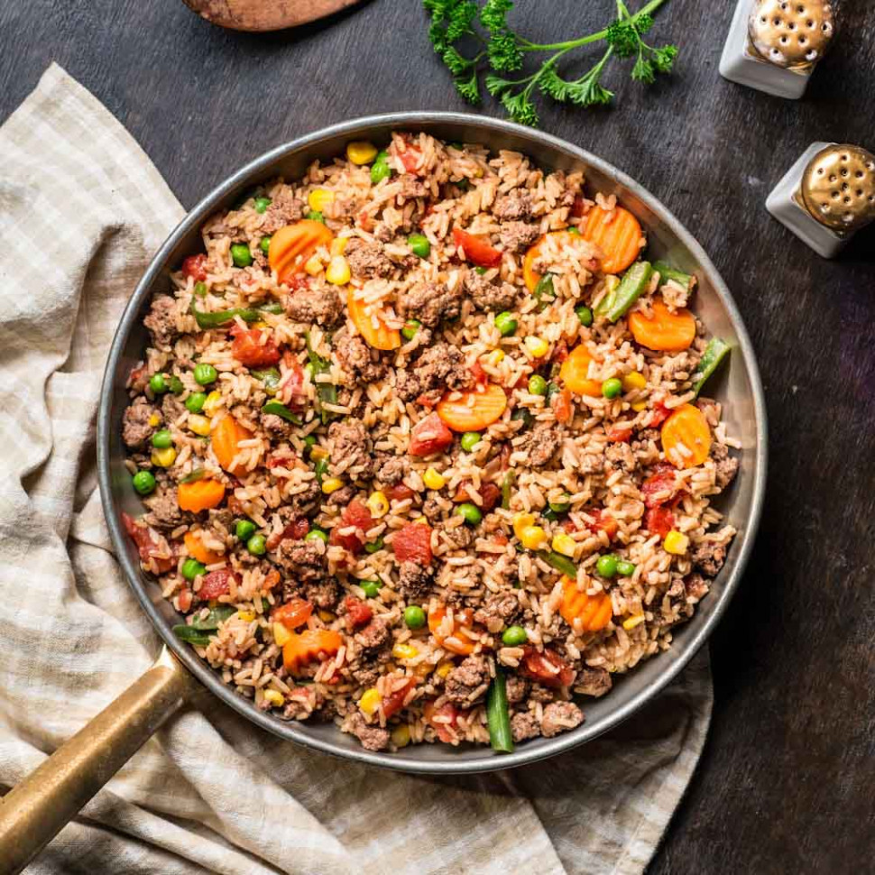 Beefy Rice Skillet | Ready Set Eat