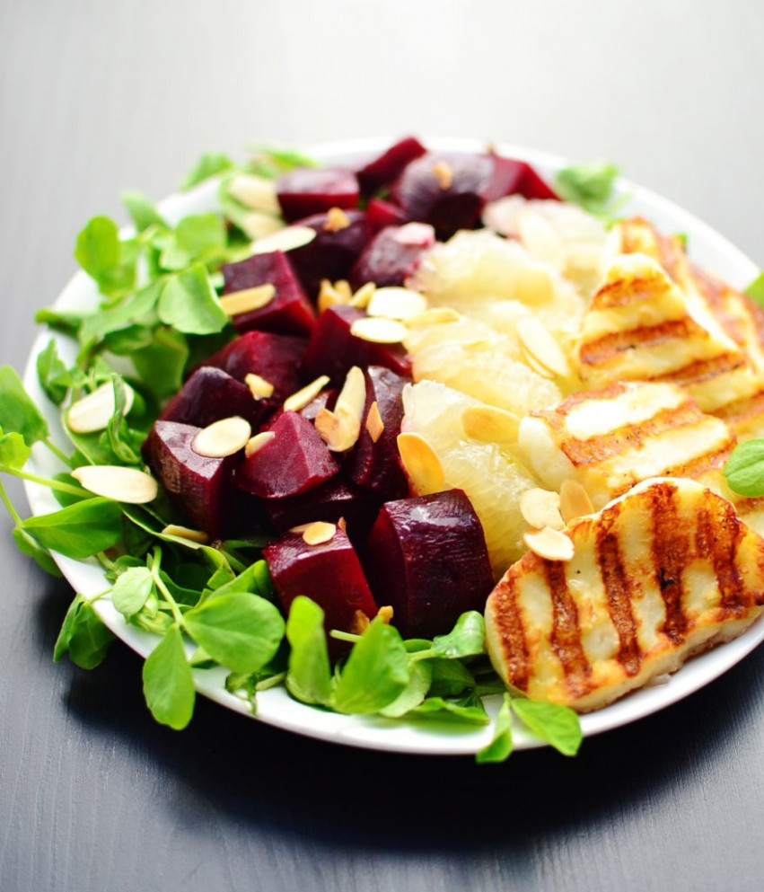 Beetroot Salad with Grapefruit and Halloumi - Everyday ...