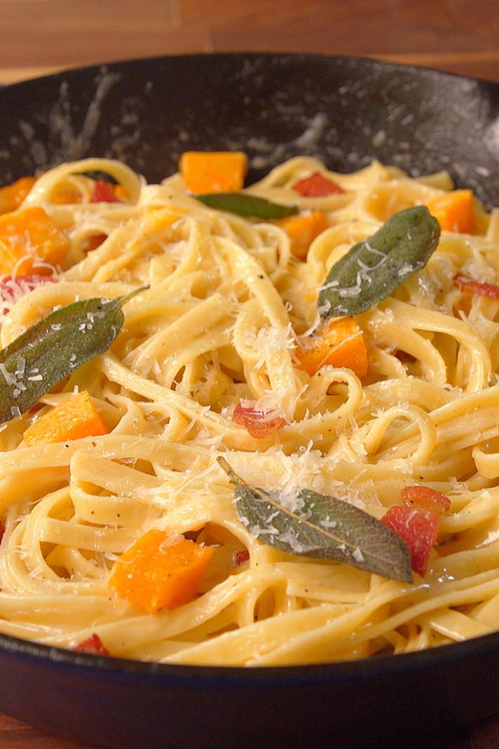 Best Butternut Squash Bacon Pasta Recipe - How To Make ...