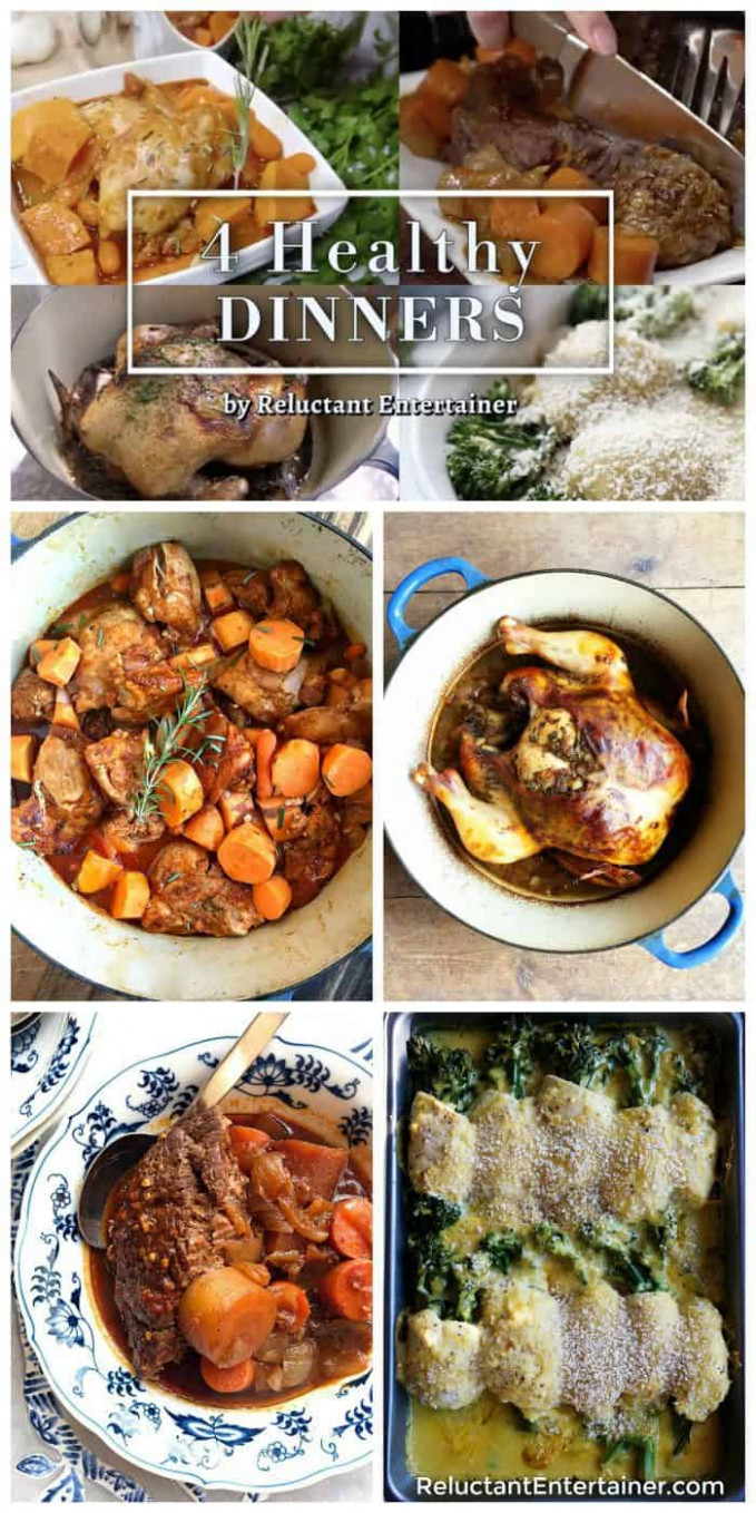 BEST EVER 8 Healthy Dinners - Reluctant Entertainer