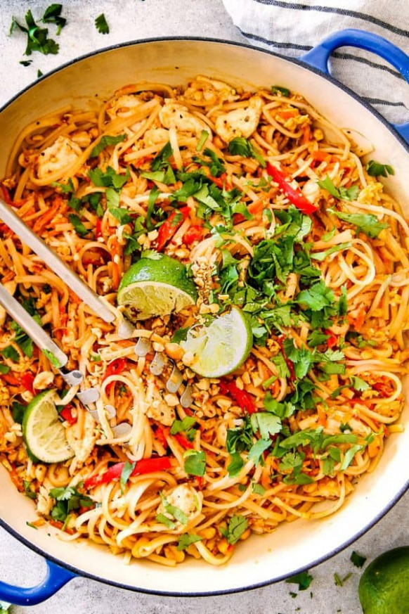 BEST EVER Chicken Pad Thai (Video) With Pantry Friendly …
