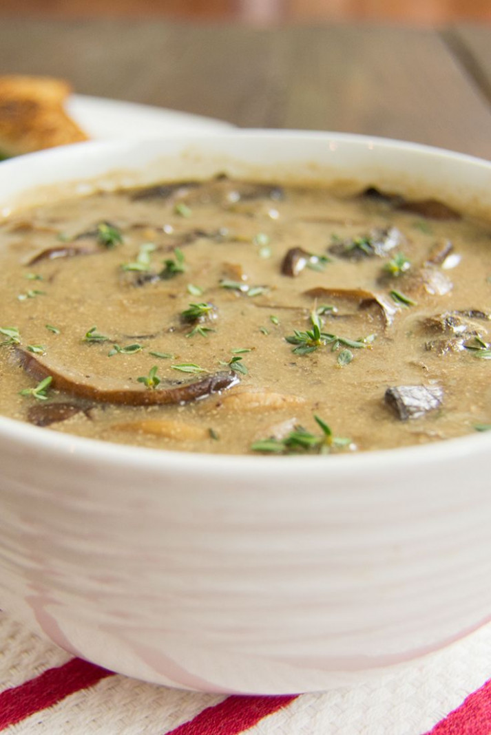 Best Ever Mushroom Soup! No lie, this is the best mushroom ...