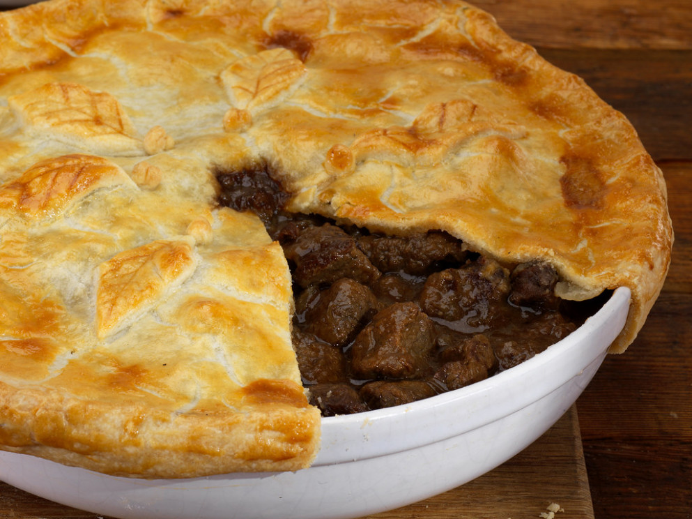 Best of British Food - Steak and Kidney pie or pudding