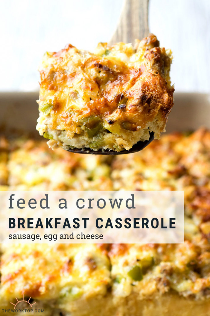 Best Sausage and Egg Breakfast Casserole (make ahead recipe ...