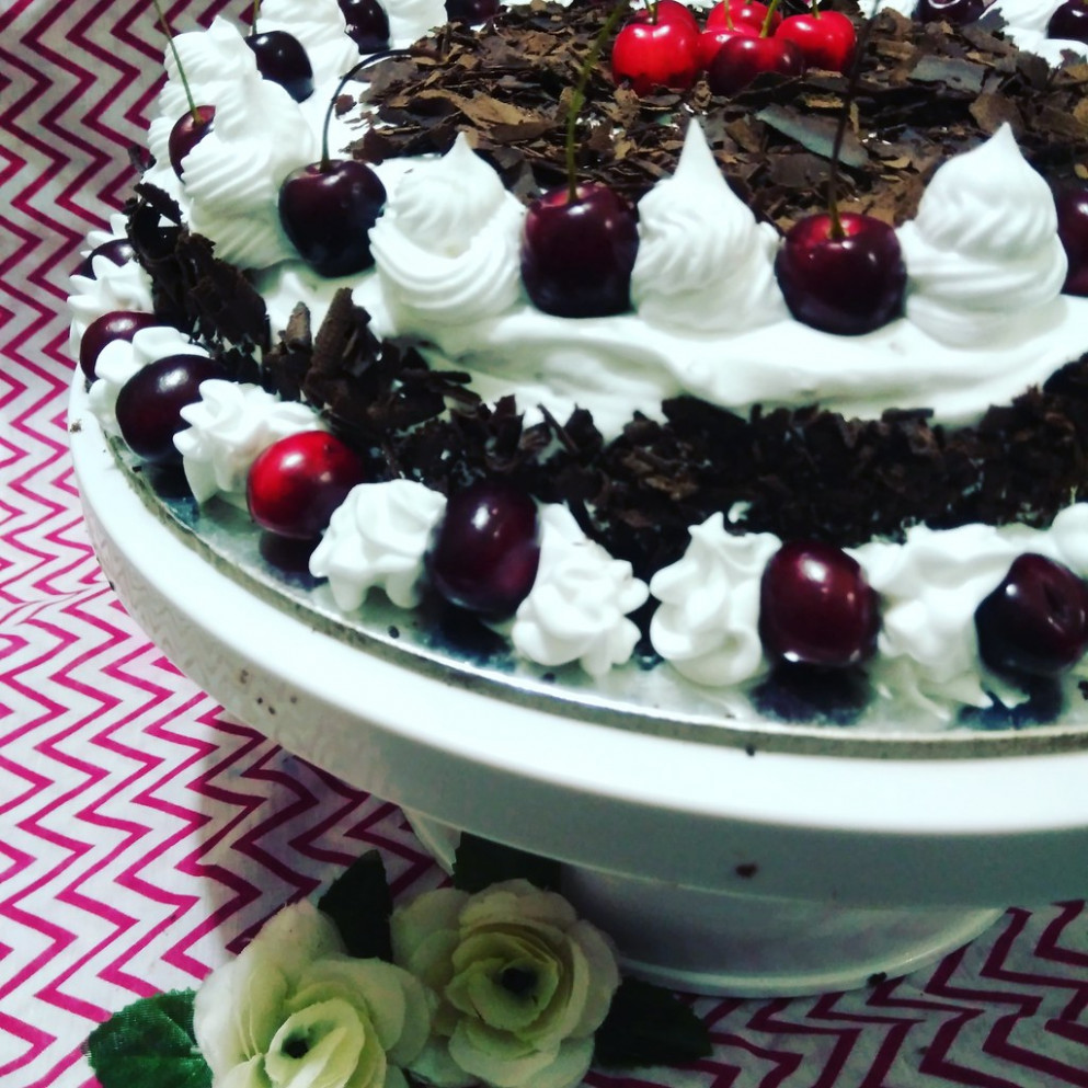 Black forest cake... This is my latest youtube recipe... For great videos -please subscribe - ruhiqueen qureshi