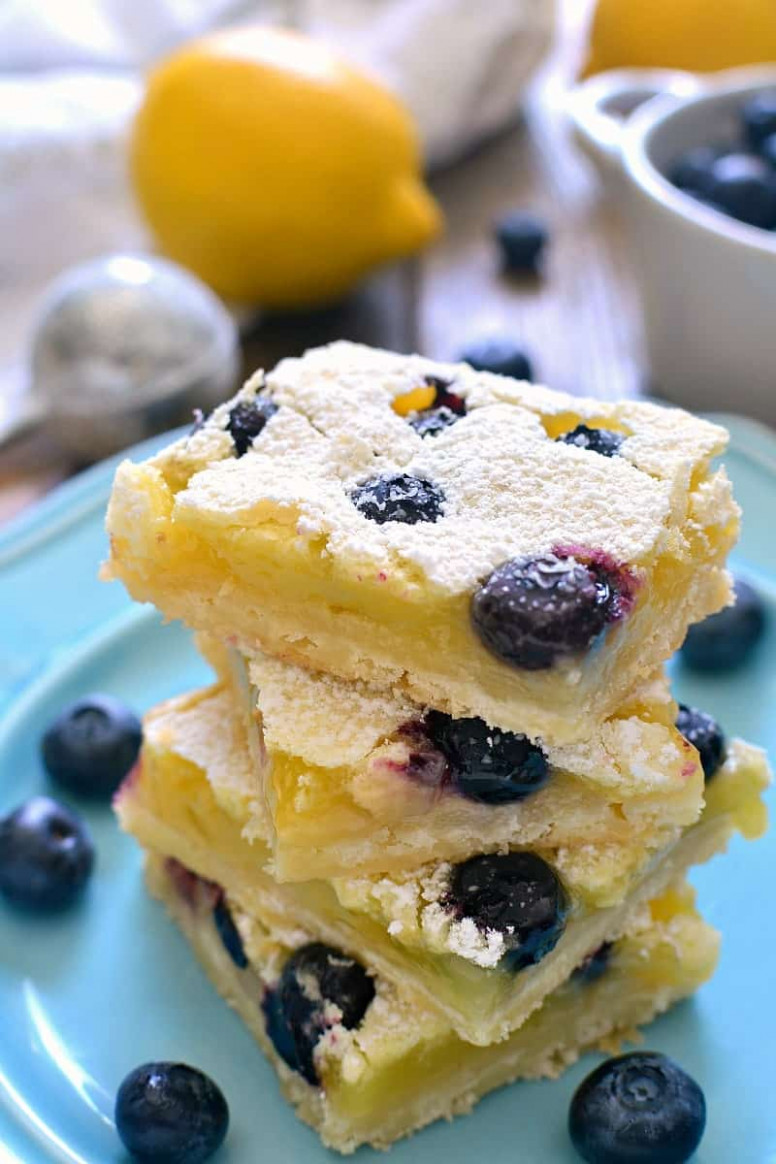 Blueberry Lemon Bars | Lemon Tree Dwelling