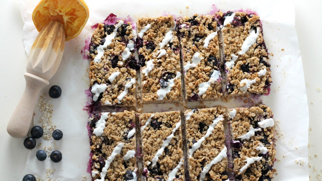 Blueberry Oat Breakfast Bar