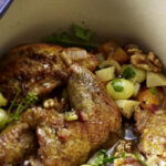 Braised Guinea Fowl With Walnuts And Grapes | RecipesPlus