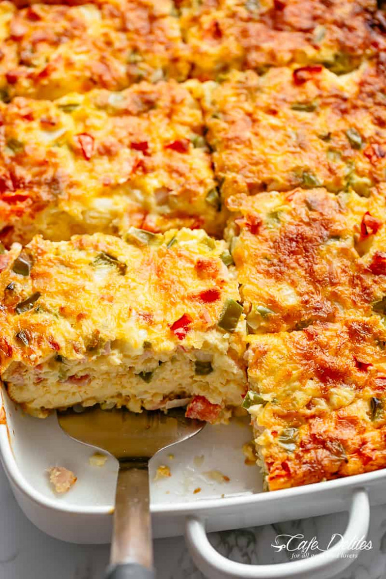 Breakfast Casserole with Bacon or Sausage - Cafe Delites
